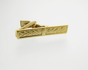 Atomic Woven Tie Clip in Gold