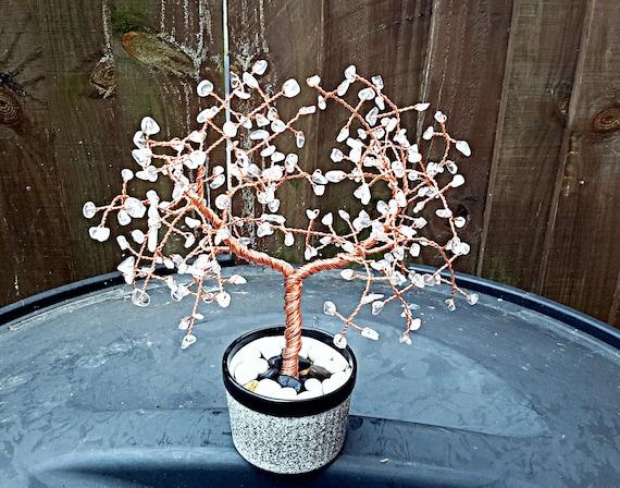Klar Quarz Edelstein Baum Edelstein-Baum Kristall-Baum