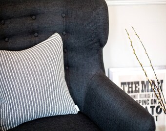 Knitted Lambswool Stripe Cushion