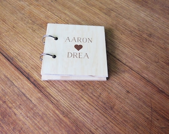 Instax Mini Album. Wood Anniversary. 5th Wedding Anniversary. Wood Photo Album. Instax Wedding