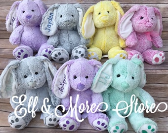 Custom Personalized Easter Bunny Rabbit Plush Animal Baby Gift Birthday