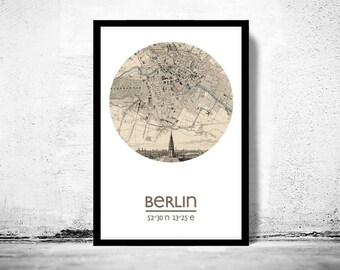BERLIN - city poster - city map poster print