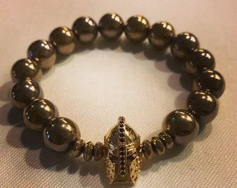 Knights Armor Gold Bracelet