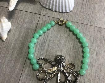 Green octopus bracelet