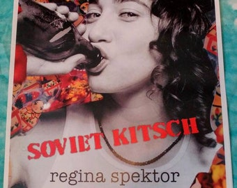 "2004 ~ Regina Spektor ~ ""Soviet Kitsch"" Album Art Poster ~ 2-sided ~ Never Displayed"