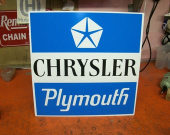 Chrysler plymouth metal sign 20x20 inch