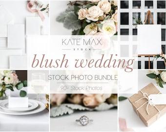 Blush Wedding Stock Photo Mockup Bundle / Wedding Mockups / Styled Stock Photography / KateMaxStock Bundle 0174