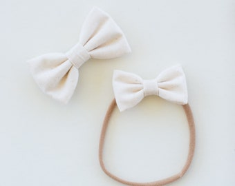 Headbands and Bows- The Meadow Sister Collection | Ivory bow or headband