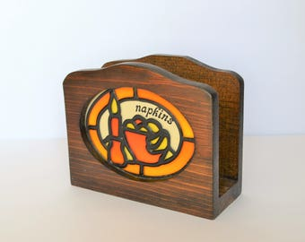Vintage Wood Napkin Holder