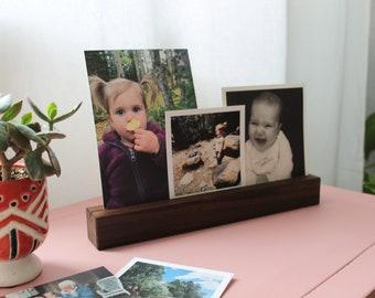 Photo Shelf, Photo Rail, Photo Ledge, Walnut Shelf, Maple Shelf, Photo Display Shelf, Hardwood Shelf, Wood Ledge, Wedding Gift, Shelf, Photo