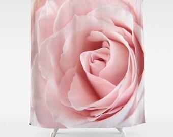 Pink Rose Shower Curtain-Rose Shower Curtain-Photo Bath Curtain-Cottage Chic-Bathroom Decor-Housewarming Gift-Floral Home Decor-Flower Decor