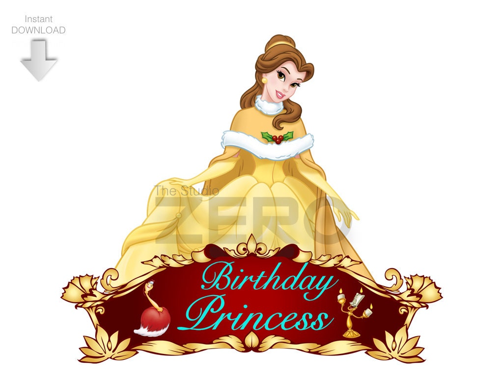 Disney Princess Belle Clipart, Beauty and the Beast, Birthday ...