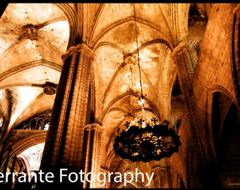 Cathedral Arches Photo Italy Architecture Print Sepia Photography Art and Collectibles Wall Decor Architectural Photo Home Decor Church