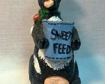 "Handpainted ""Sweet Feed"" Cow"