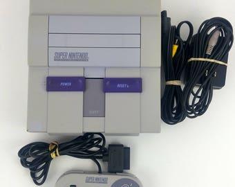 Super Nintendo Console Bundle testé fonctionne SNES