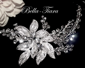 Swarovski crystal hair comb, Swarovski crystal bridal clip, crystal wedding comb, crystal wedding clip, crystal wedding side comb