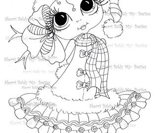 INSTANT DOWNLOAD Digital Digi Stamps Big Eye Big Head Dolls Digi  Besties IMG910 By Sherri Baldy