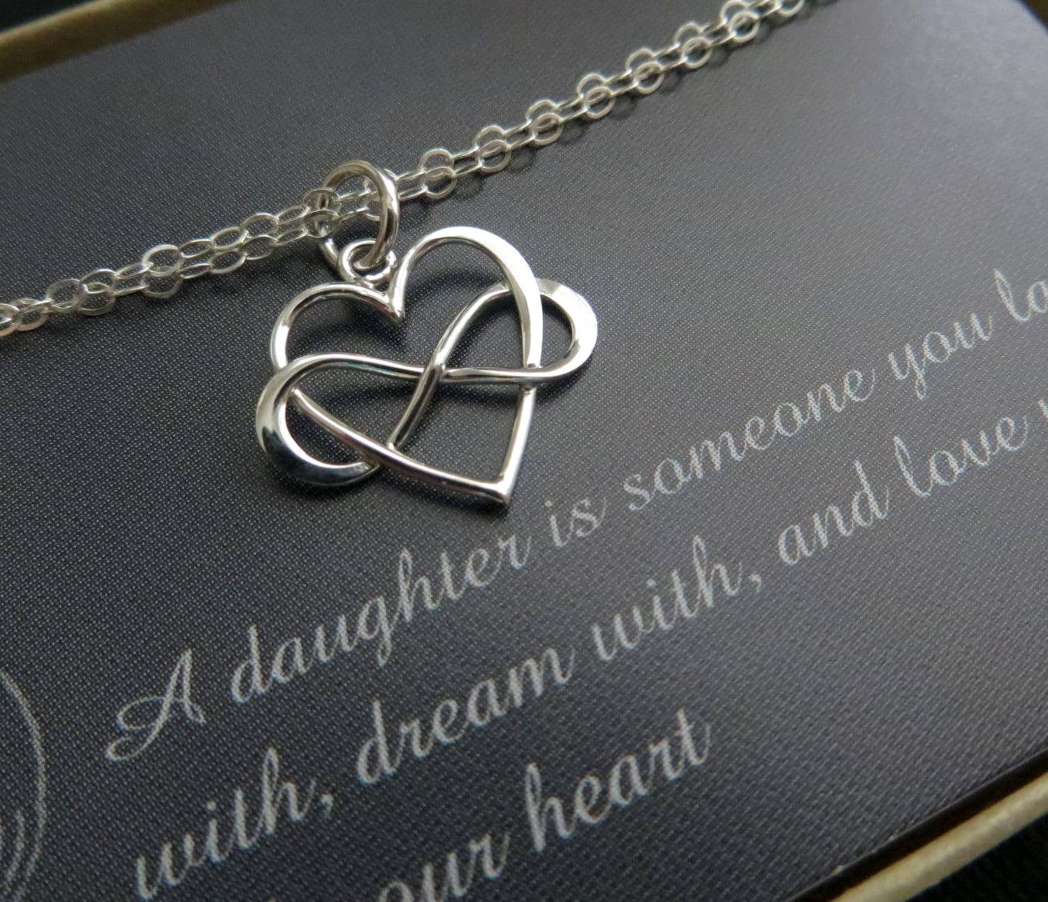 Bridal Gift From Mother: Gift For Daughter From Mom Infinity Heart Bracelet Wedding