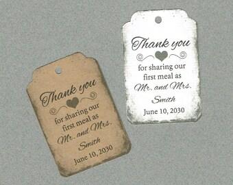 Wedding Tags, Set of 50, Vintage Tag, Printed Tags, Wedding Shower Tags, Tags, Wedding Favor, Thank You Tag