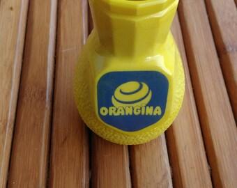 ORANGINA - straw holder in  opalex - Collector - french bistro -