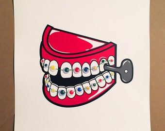 Toy Teeth Print