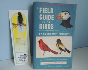 A Field Guide to the Birds, Eastern Land and Water Birds, By Roger Tory Peterson, Vintage Field Guide, National Audubon Society, 1940's