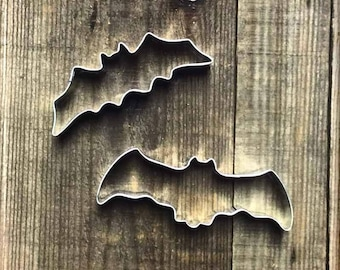 Set of 2 Flying Bats Metal Cookie Cutters #NAWK51