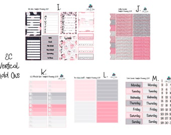 Purrfect Planning Add Ons Vertical/Hourly Planner Stickers