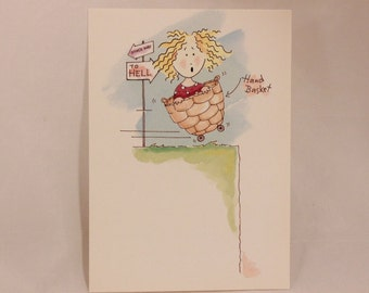 Vintage How are You Greeting Card by The Deep End.  1 Card & 1 Envelope included
