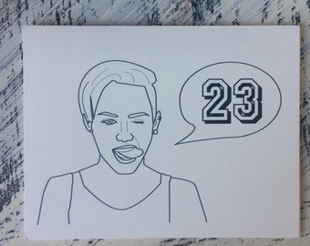 Miley Cyrus 23rd Birthday Card