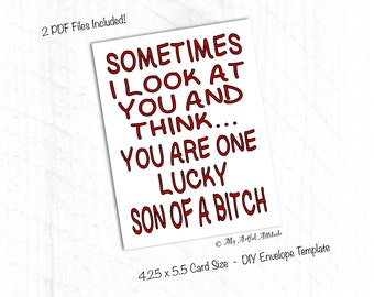 PRINTABLE Card, Funny Valentines, Rude Anniversary Card, Inappropriate, Sarcastic Mean Humor, Boyfriend Or Husband Birthday