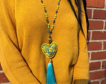 Mexican Heart Necklace