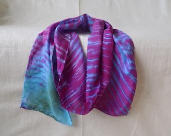 Parrotfish Inspired Silk Scarf
