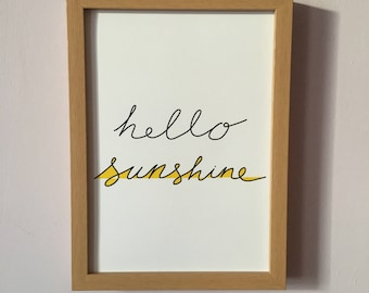 Hello Sunshine Art Print- Instant Download