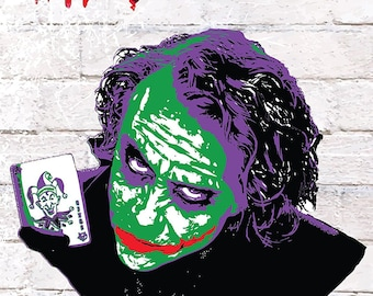 Joker Why so serious poster A1 Large bedroom poster The Dark Knight Batman