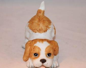 Playful puppy cute ceramic