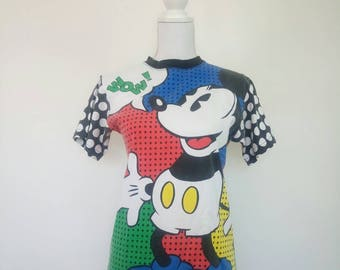 Vintage Mickey Mouse top Walt Disney Mickey Mouse t-shirt size S/M