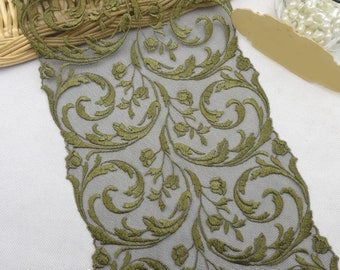 """Lace Trim Ribbon Vintage Embroidered Lace Wedding Dress Sewing Craft 7.48"""" width"""