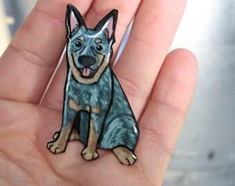 Blue Heeler Magnet: For Car locker and Fridge Australian Cattle Dog Handmade Animal Magnets Blue heeler gift