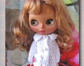 FREE SHIPPING Crocheted coat for Blythe