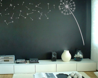 Dandelion Blowing in the Wind - Custom Made Wall Decals