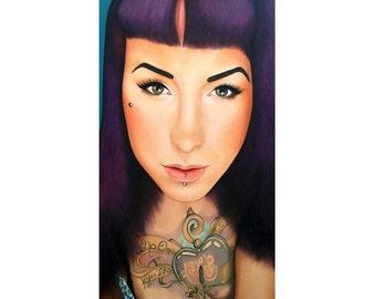 True Beauty - Danielle St Laurent - Severin Stargher - ART PRINT - 8 x 10 - By Toronto Portrait Artist Malinda Prudhomme