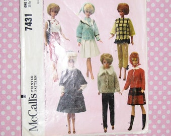 Barbie Doll Clothing Pattern By McCall's no. 7431