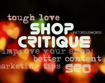 Etsy Shop Critique SEO Help Tips How to Sell on Copywriting Review SEO Competition Analysis Product Tag Feedback SetUp Help Critique etsy13