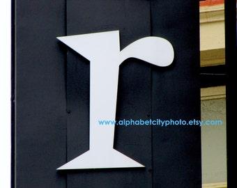 LETTER R No.4 5x7 Horizontal Photo, BEATNIK FONT, Alphabet Letter Photos