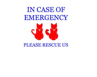 Design 2: Customized 'In Case of Emergency' Pet Decal