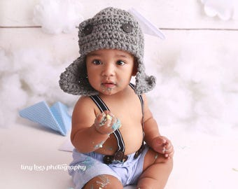 Pilot Hat 1 year, Toddlers Hat Flyer, Kids Baby Hat, Photography Aviator Hat, Bomber Baby Hat, GIFT 1 year Baby Hat, Pilot Hat, Aviator Hat