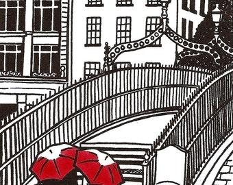 Dublin Love gocco print