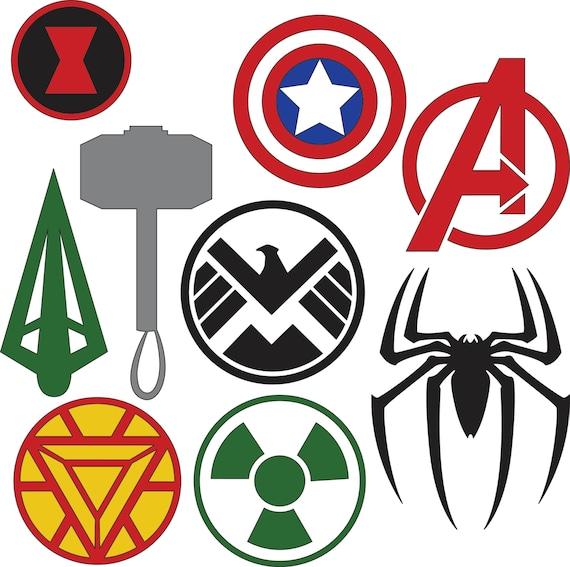 marvel superhero logos svg dxf files rh etsy com create a superhero logo free create a superhero logo online