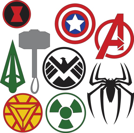 Marvel Superhero Logos Svg Dxf Files